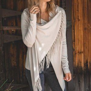 LoveStitch | Cream Fringed Sweater - Wrap 3 Ways